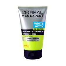 Loreal Men Expert WHITE ACTIVE OIL CONTROL Brightening Clears Face Foam 100 ml.