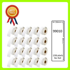 20 Rolls 99010 Labels Compatible for Dymo/Seiko 28 x 89mm 130 labels per roll