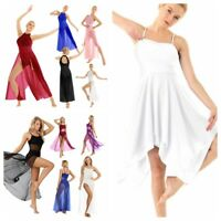 Contemporary Women Girl Lyrical Ballet Dance Dress Chiffon Maxi Dress Dancewear