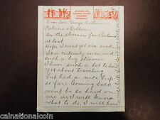 Vintage Canadian Pacific hand written letter