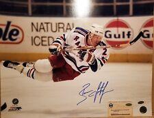"Brian Leetch Signed New York Rangers ""Horizontal Fly"" 16x20 Photo Steiner COA"