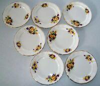 Old Royal Bone China England 7 Dessert Plates