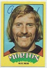 Alex Alec Reid signed 1974 A&BC card #73 Morton Dundee United Rangers