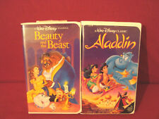 BEAUTY AND THE BEAST + ALADDIN BLACK DIAMOND VHS TAPES