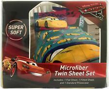 Disney Pixar Cars 3 Microfiber Twin Sheet Set 3 Piece Set