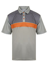 Island Green Mens Igts1644 Polo Shirt Silver Greynavyburnt Orange X-large