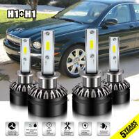 4X H1 LED Headlight Kits Low Beam Combo Bulbs 6000K For Jaguar X-Type 2008-2004