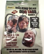 The Walking Dead Season 3 Dog Tags Unopened Pack x2