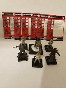 Star Wars Miniatures Han Solo On Tauntaun & Hoth Trooper Rebel Team Builder Lot