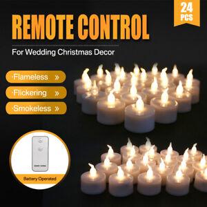 24PCS LED Flameless Tea Light Tealight Candle Wedding Decor Battery Included