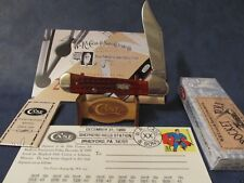 CASE 20TH CENTURY RED PKT. WORN COPPERLOCK KNIFE  12/31/99 OVAL SHIELD ONLY 100
