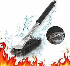 """18""""Stainless Steel 3-in-1 Grill Brush with Scraper Bbq Cleaner Grill Accessories"""