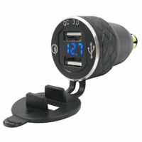 4.2A Dual USB Charger Adapter Motorcycle DIN Socket EU Plug for GPS Smartphone