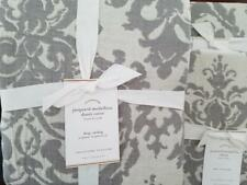 Pottery Barn Jacquard Medallion KING Duvet and 2 Euro Shams ~ NEW ~ GRAY