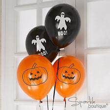 HAPPY HALLOWEEN BALLOONS - Adult/Childrens Party Decorations - Ghost / Pumpkin