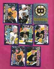 1998-99 PANINI BOSTON BRUINS  STICKER CARD LOT  (INV# C2319)