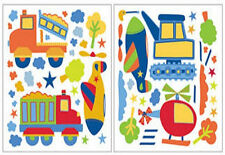 TRUCKS AND PLANES wall stickers 61 decals room decor transportation construction