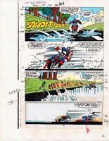1986 Captain America 324 page 16 Marvel Comics color guide comic book art:1980's