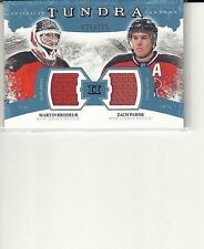 MARTIN BRODEUR / ZACH PARISE 11/12 ARTIFACTS TUNDRA TANDEMS JERSEYS 26/225