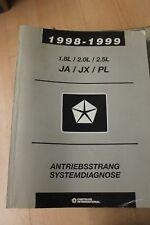 1998 - 1999 1,8 2,0 2,5 L Motor Chrysler Jeep Werkstatthandbuch