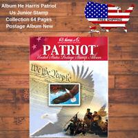 Album He Harris Patriot Us Junior Stamp Collection 64 Pages Postage Album New