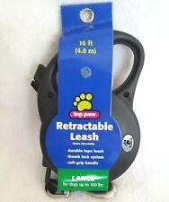 Top Paw 16 Ft Retractable Black Dog Leash Size Large