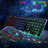 Keyboard Mouse Set Adapter Gaming Rainbow LED Backlit for PS4 PS3 Xbox One Xbox