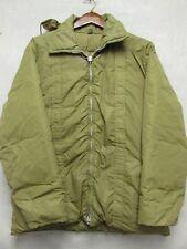 V5866 Pioneer Ski Wear Olive Zip Up 70's Down Hooded Jacket Men's L