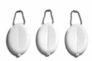 3 Oval Squeeze Purses | Organize small items & Change | Holds Keys | Made in USA