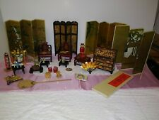 Vintage lot of oriental furniture and accessories. 31 pcs. Very detailed.