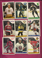 9 X DIFFERENT 1985-86 OPC NHL PLAYER  CARD (INV#0208)