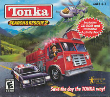 Tonka SEARCH AND RESCUE 2 - Classic Kids Police Firefighter PC Game - SEALED NEW