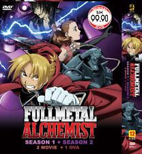 DVD ANIME Fullmetal Alchemist Sea 1-2 Vol.1-115 End +2 Movie +1 OVA + FREE ANIME