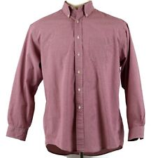 Brooks Brothers Mens Large Red Gingham Checkered Button Down Long Sleeve Shirt