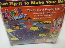 "NEW Zipit Friends Blue ""Puppy"" Soft Cozy Fleece Twin Bedding Set - Age 3+"