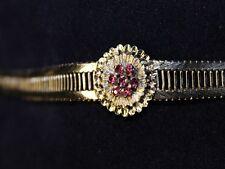 800er Silberarmband, Armband mit 7 Rubinen, 19 cm, 22,4 g, 2x getragen