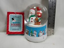 "2013 Hallmark Merry Carolers Trio  4"" Snow Globe"