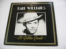 HANK WILLIAMS - THE HANK WILLIAMS COLLECTION - LP VINYL EXCELLENT CONDITION 1987