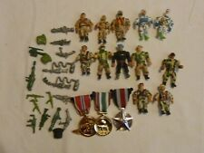 Vintage Lot of Men of Medal Action FIgures Miniatures W/Accessories Weapons