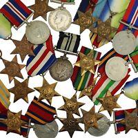 100% ORIGINAL WW2 Medals & WW2 Campaign Stars - Choose Your Medals & Quantity!!