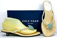 Cole Haan Womens Sandals size 7.5 B Thong Kitten Heel Slides MO22