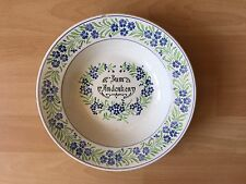 Villeroy Boch V&B Zum Andenken Blumendekor Suppenteller blau grün alt