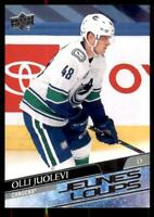 2020-21 UD Series 1 French Young Guns #222 Olli Juolevi RC - Vancouver Canucks