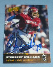 Stepfret Williams Signed 1996 PPF Cowboys Football Rookie Card RC XFL Autograph