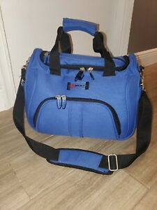 """DELSEY LIGHTWEIGHT Suitcase Carry-On Bag Luggage 15x12x11"""" EUC"""