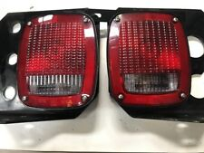 Grote 5371 Tail / Turn / Brake Light On Steel Bracket W/ License Plate Bracket