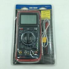 Cen Tech P37772 Digital Multimeter With Temperature Measurement New