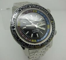 Ricoh World Timer World Citizen Japan 21 Jewels Black Dial Automatic Watch