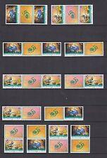 UNO New York 1996 postfrisch 12 verschiedene Zusammendrucke von MiNr  720-721