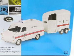 Vanguard Va06615 Ford Transit Mk1 Strathclyde Police Dog Branch Trailer 1:43